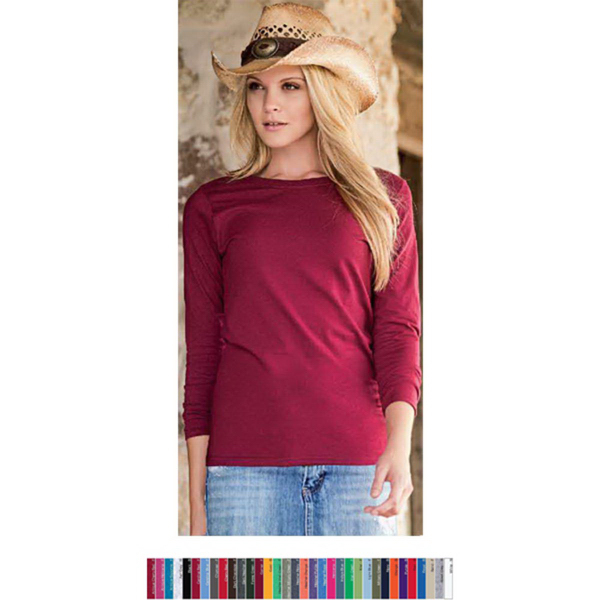 Personalized Ladies' Heavy Cotton Long Sleeve Tee
