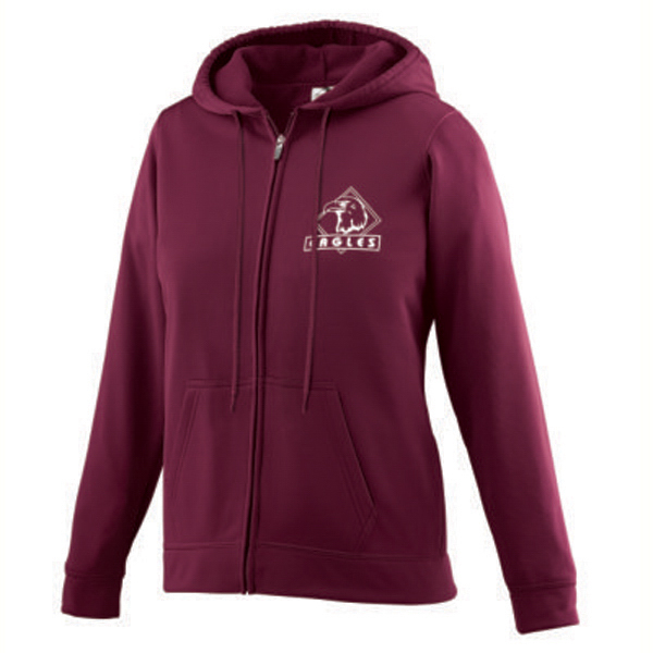 Customized Girls full zip hooded sweatshirt