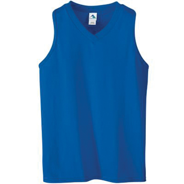 Imprinted Girls racerback V neck jersey
