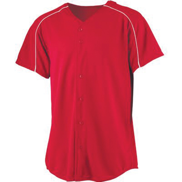 Promotional Youth wicking button front baseball jersey