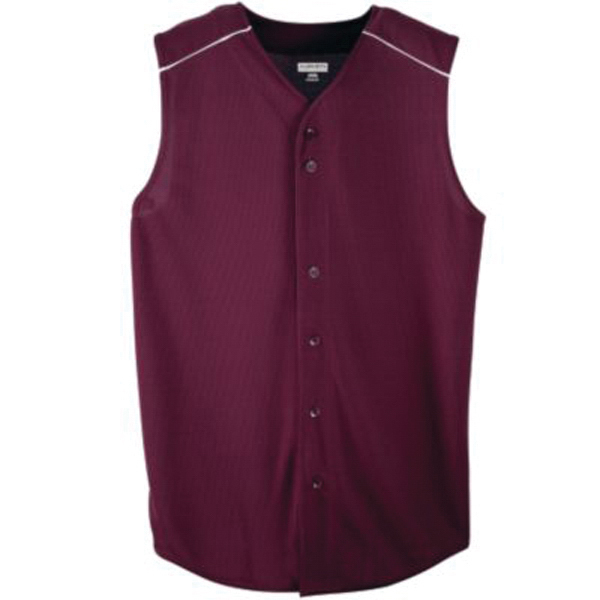 Custom Youth sleeveless button front baseball jersey