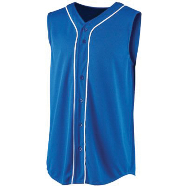 Custom Youth sleeveless button front jersey