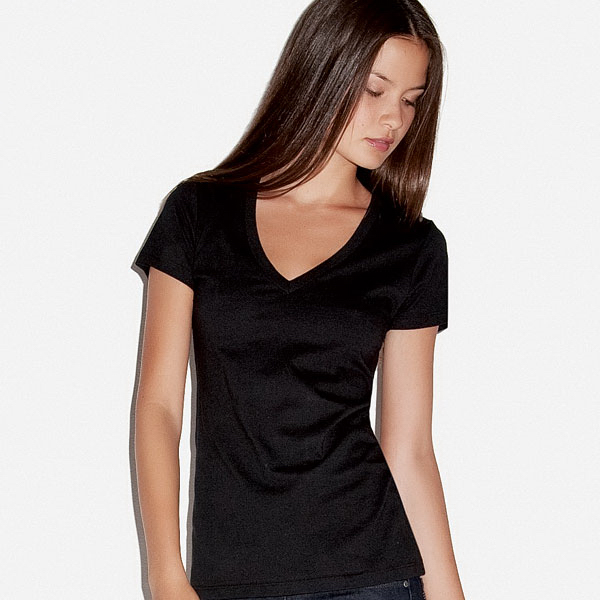 Personalized Bella+Canvas Jersey Deep V-Neck Tee