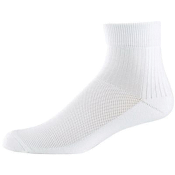Imprinted Adult wicking full quarter socks