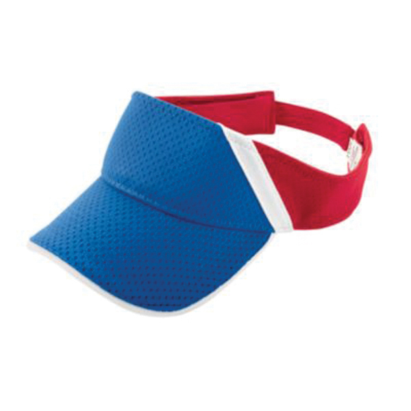 Promotional Youth athletic mesh and dazzle stripe visor