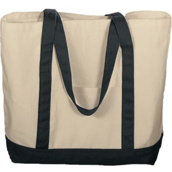 Imprinted Boater tote with front pocket