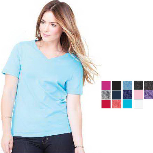 Promotional Bella + Canvas Missy Jersey V-Neck Tee