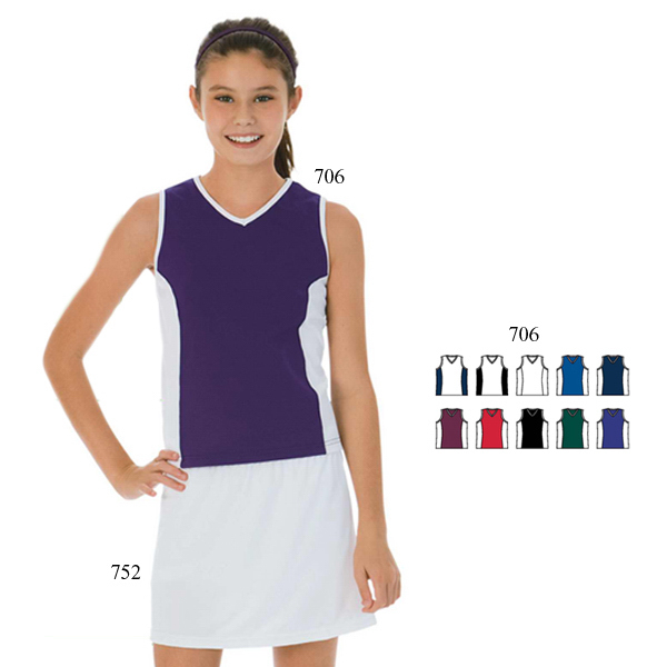 Custom Girls size poly / spandex sleeveless top