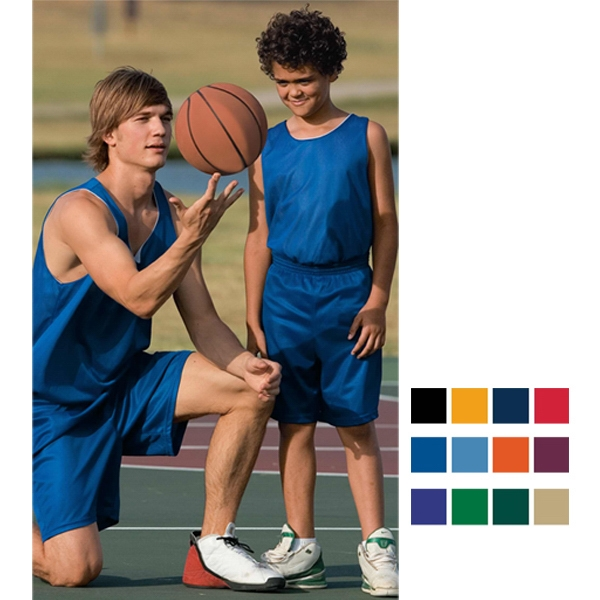Promotional Youth mini mesh league shorts
