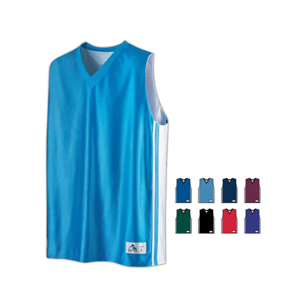 Promotional Youth size reversible dazzle mesh jersey