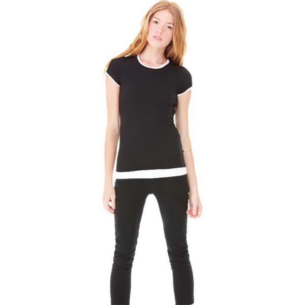 Promotional Bella + Canvas Women's Sheer Jersey 2 in 1 Tee