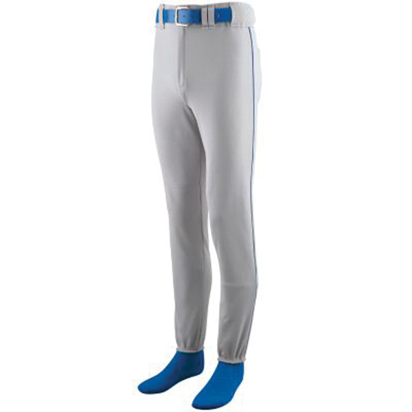 Promotional Youth baseball pants with brass zipper fly