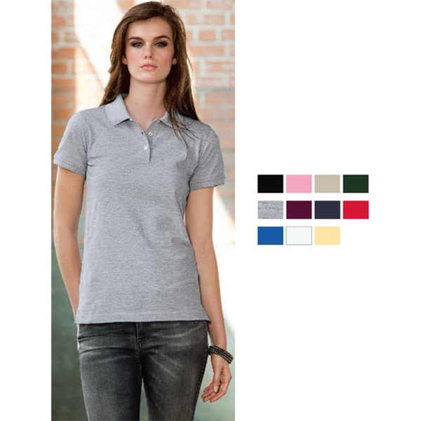 Personalized Anvil Women's Ring Spun Pique Polo
