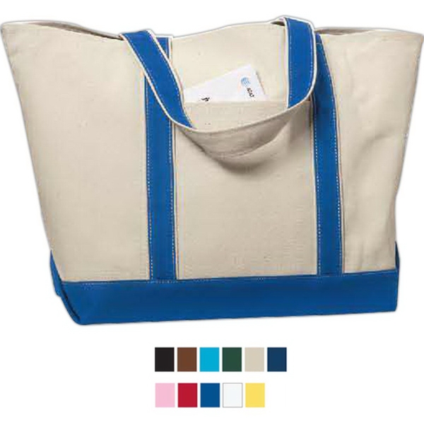 Imprinted Liberty Bags Cotton Canvas Classic Boat Tote