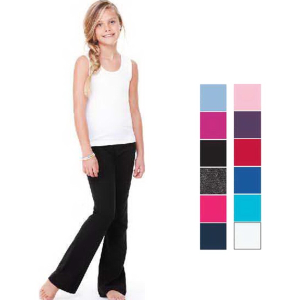 Custom Bella + Canvas Girl's Cotton Spandex Dance Pants
