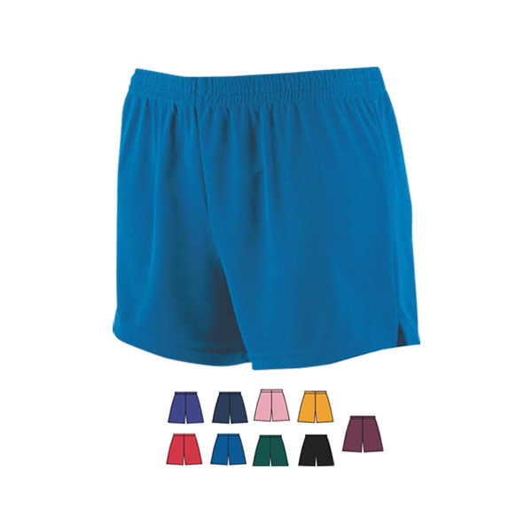 Imprinted Girls wicking mesh cheer shorts