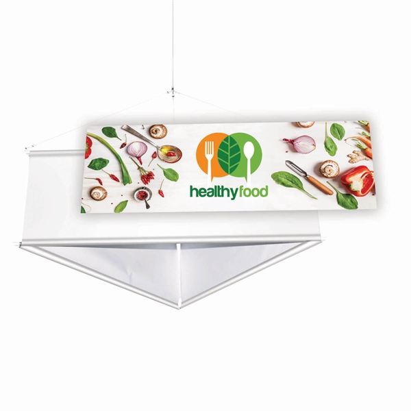 Printed Triangle Steel Hanging Banner Graphics Only