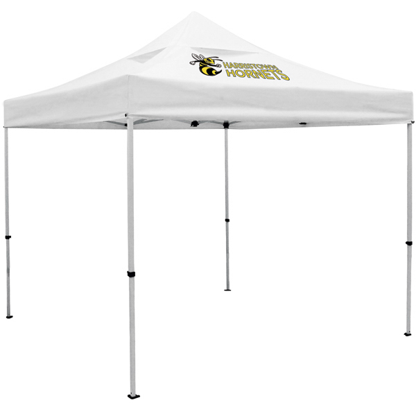Customized ShowStopper Deluxe 10-ft Square Tent with Vented Canopy
