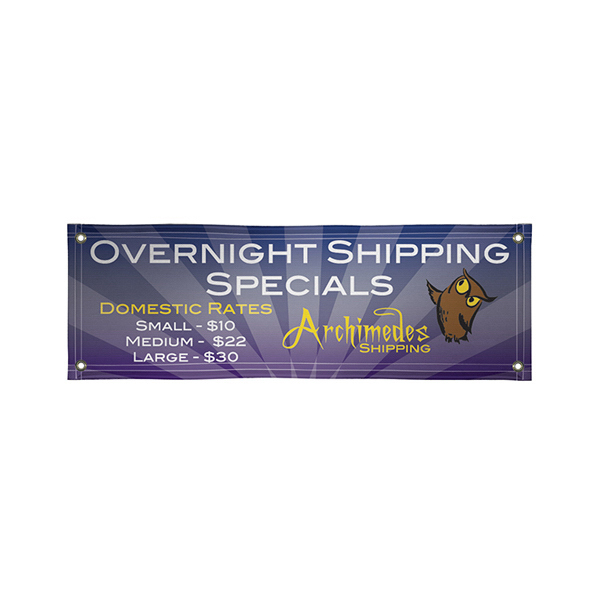 Personalized Quick Ship Banner