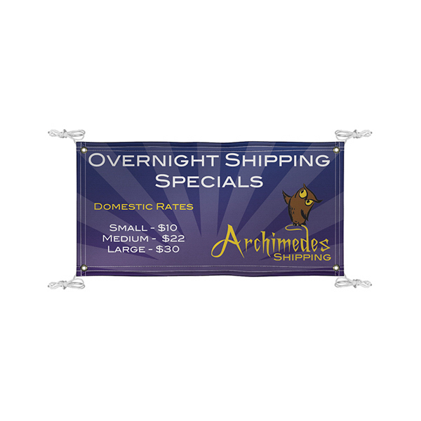 Imprinted Quick Ship Banner