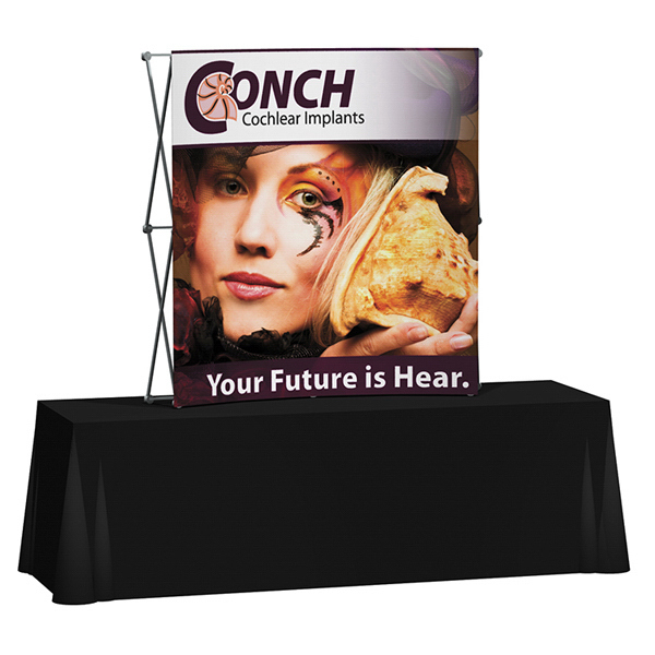 Customized Splash Curved Table Top Display
