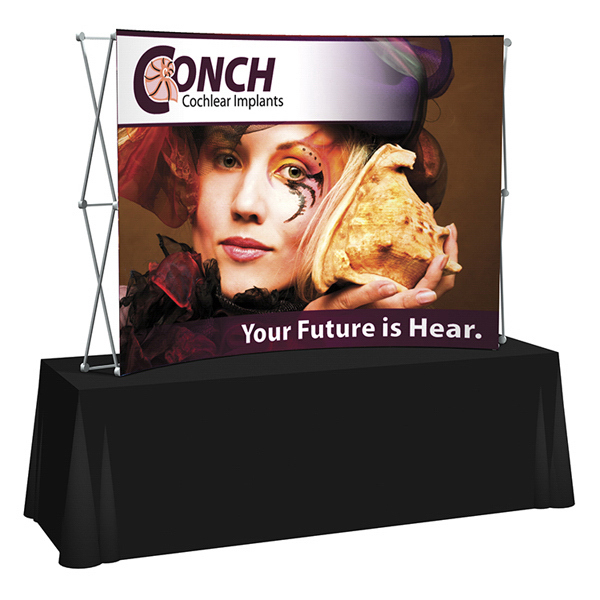 Personalized Splash Curved Table Top Display