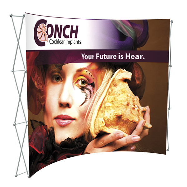 Promotional Splash Curved Floor Display