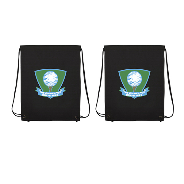 Printed Non-Woven Drawstring Backpack