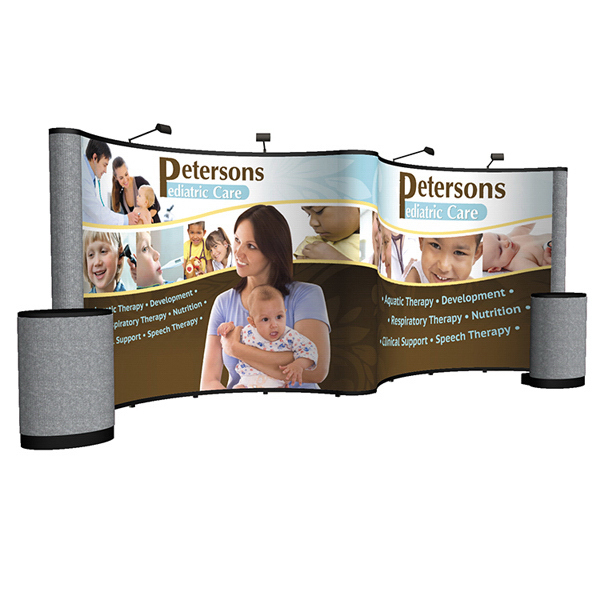 Promotional Show 'N Rise Pop-Up Mural with Fabric Ends Display Kit