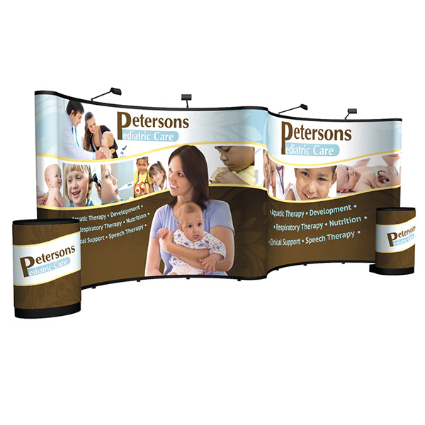 Printed Show 'N Rise Pop-Up Mural Display Kit