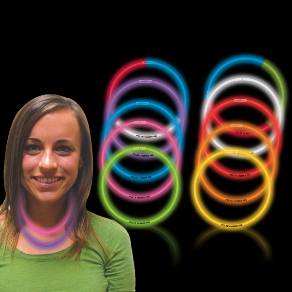 "Customized Variety Pack 22"" Superior Single Color Glow Necklace"