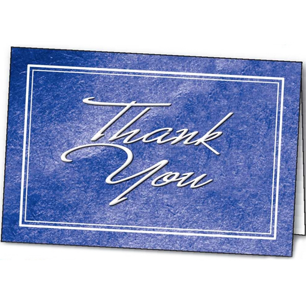 Imprinted Thank You special occasion card