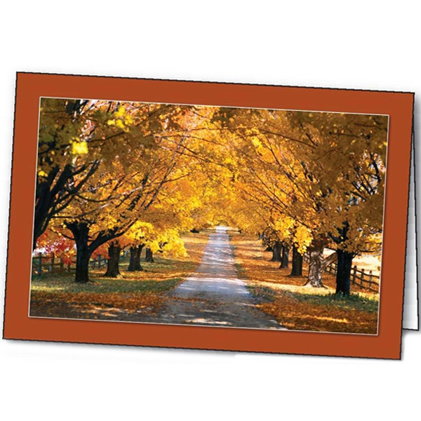 Personalized Autumn's Radiance special occasion card