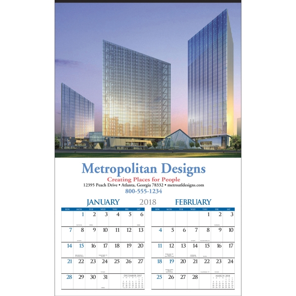 Promotional Accelerated Custom Six-Sheet Executive CustomLine Calendar