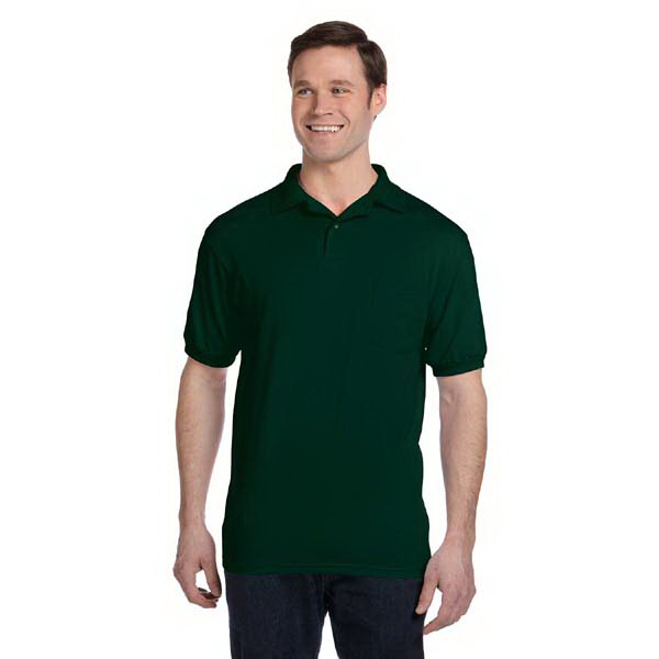 Printed 5.5 oz. 50/50 Jersey Pocket Polo