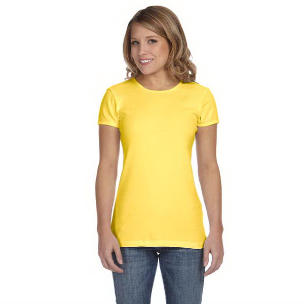 Promotional Bella & Canvas Ladies' Baby Rib Short Sleeve T-Shirt