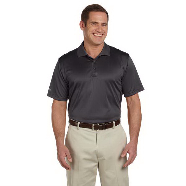 Imprinted Men's dobby performance polo