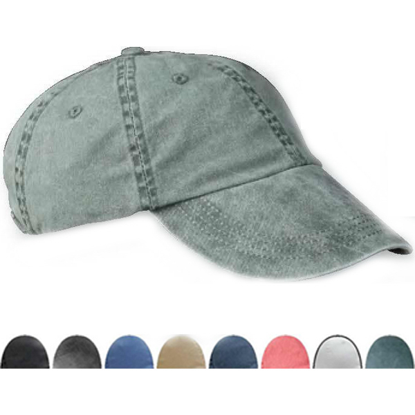 Promotional Six panel pigment-dyed twill cap