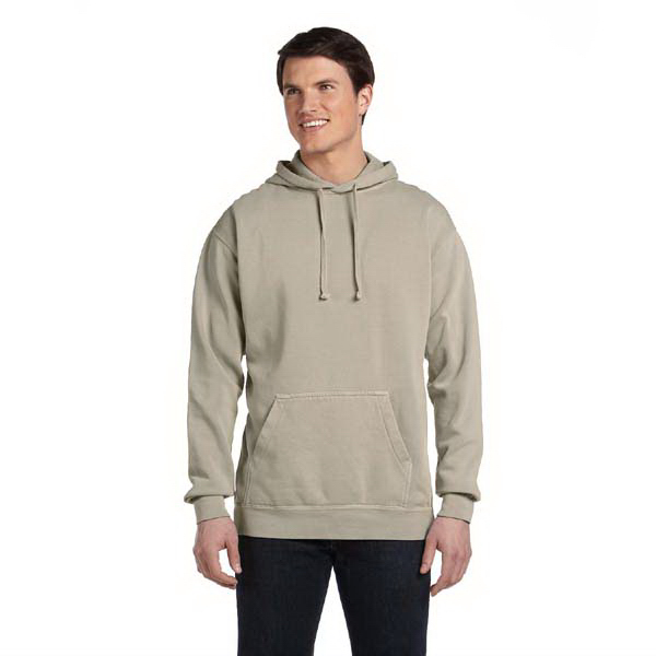 Imprinted 9.5 oz. garment-dyed pullover hood