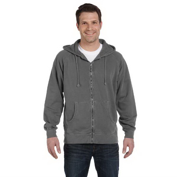 Personalized Pigment Dyed 11 oz. Ringspun Cotton Full Zip Hood