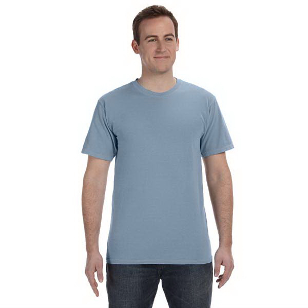 Imprinted 5.6 oz. Pigment-Dyed & Direct-Dyed Ringspun T-Shirt