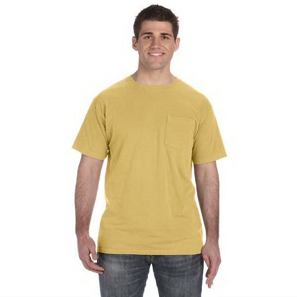 Promotional 5.6 oz. Pigment-Dyed & Direct-Dyed Ringspun Pocket t-shirt