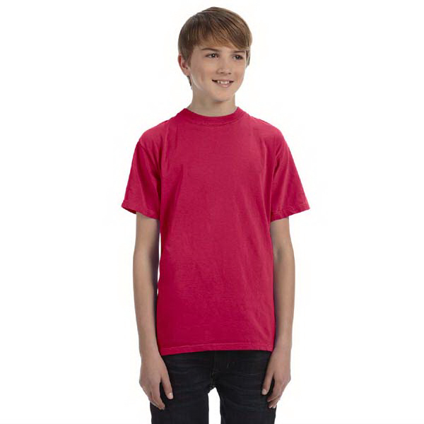 Customized Youth 5.6 oz. Pigment-Dyed & Direct-Dyed Ringspun t-shirt