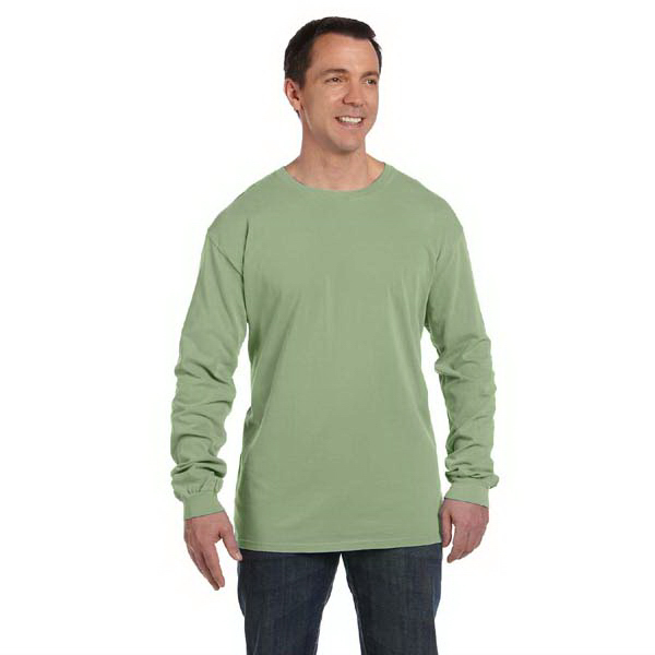 Personalized Pigment Dyed and Direct Dyed Ringspun Long Sleeve t-shirt