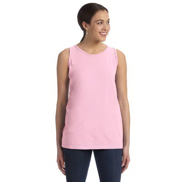 Customized Ladies' 5.6 oz. Pigment Dyed and Direct Dyed Ringspun Tank