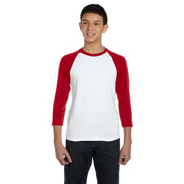 Promotional Youth 5.4 oz. 3/4 sleeve raglan baseball t-shirt