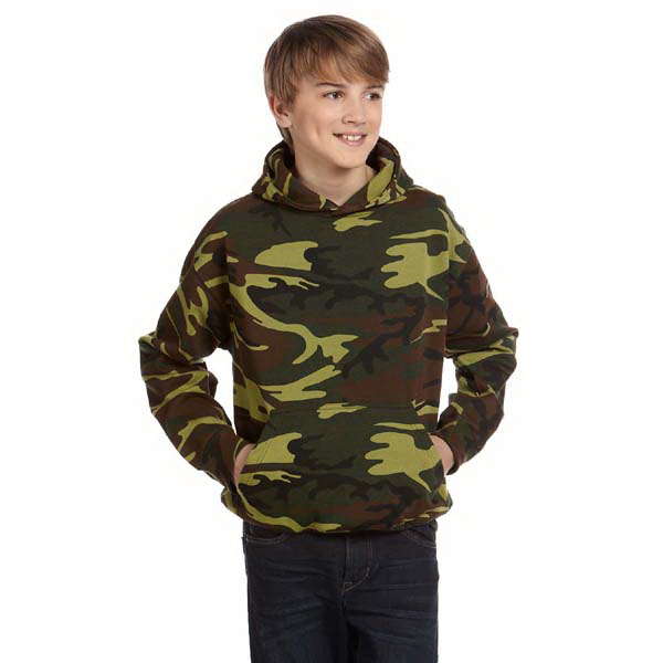 Promotional Youth Camouflage Hooded Sweatshirt