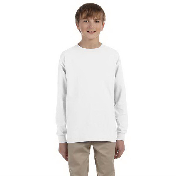 Customized Youth 5.6 oz. 50/50 Heavyweight Blend Long Sleeve T-Shirt