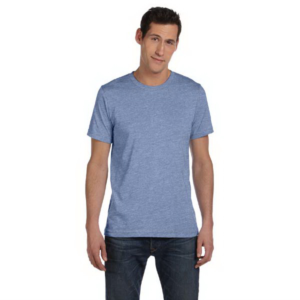 Custom Bella & Canvas Men's Heather Jersey Short-Sleeve T-shirt