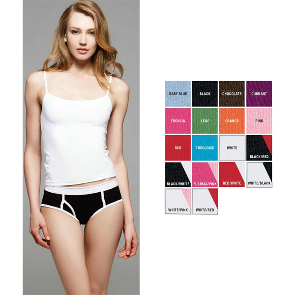 Customized Bella & Canvas Ladies' Cotton/Spandex Boyfriend Brief